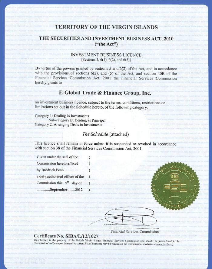 Forex4you лицензия, скан документа